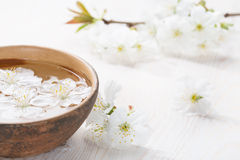 Floating flowers. Royalty Free Stock Photo