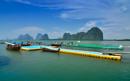 Floating football field of Panyee Island, Thailand Stock Images