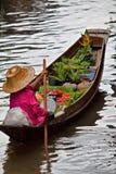 Floating fruit market Royalty Free Stock Photo