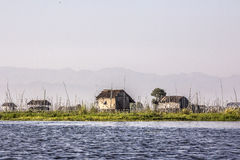 Floating gardens at Inle lake Royalty Free Stock Images