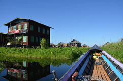 Floating Gardens on Lake Inle Royalty Free Stock Photography