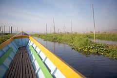 Floating gardens on the Lake Inle Myanmar Royalty Free Stock Photography