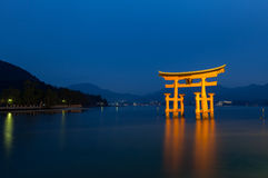 Floating Gate in Hiroshima, Japan Stock Images