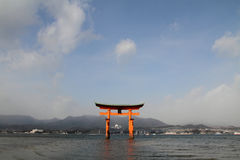 Floating gate of Itsukushima Shrine Stock Photo