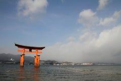 Floating gate of Itsukushima Shrine Stock Image