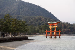 Floating gate of Itsukushima Shrine Stock Photos