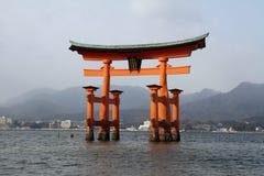 Floating gate of Itsukushima Shrine Royalty Free Stock Image