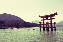 Floating gate in Miyajima Royalty Free Stock Photos