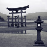 Floating gate in Miyajima Stock Photo