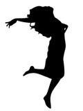 Floating girl. Vectored floating girl vector illustration