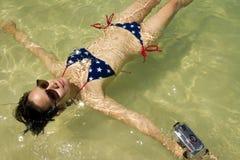 Floating girl Stock Image