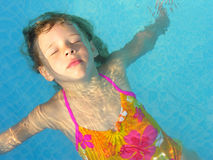 Floating girl Royalty Free Stock Images