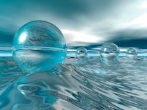 Floating Glass Baubles Royalty Free Stock Photo