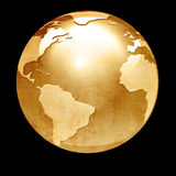 Floating globe Stock Images