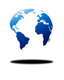 Floating globe Royalty Free Stock Photos