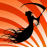 Floating Grim Reaper. An image of a floating grim reaper Royalty Free Stock Image