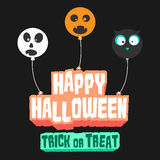 The floating Happy Halloween Trick or Treat  logo Stock Photography