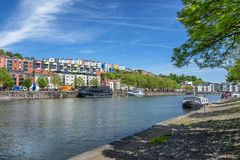 Floating harbour in Bristol royalty free stock photos