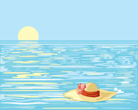 Floating hat Royalty Free Stock Images