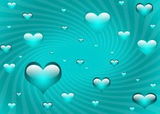 Floating hearts Royalty Free Stock Image