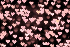 Floating hearts stock photography