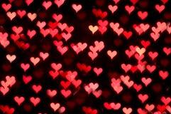 Floating hearts Stock Photo