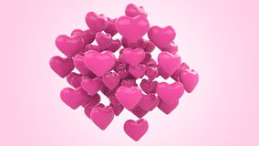 Floating Hearts stock video