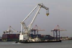 Harbor Barge Floating Crane Royalty Free Stock Image