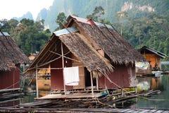 Floating home ,Cheow Lan lakein Thailand Royalty Free Stock Photo