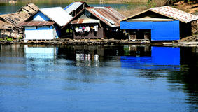 Floating Home  in Kwai River of Thailand Stock Photography