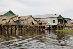 Floating Homes, Tonle Sap lake, Cambodia Stock Images