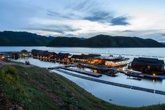 Floating hotel houses, Thailan Stock Image