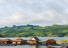 Floating hotel houses, Thailand Stock Photos