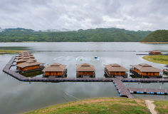 Floating hotel houses in Thailand Royalty Free Stock Photos