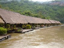 Floating hotel on River Kwai, Thailand Royalty Free Stock Image