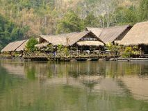 Floating hotel on River Kwai, Thailand Royalty Free Stock Photo