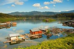 Floating house. At Paknai ,Nan ,Thailand Stock Photography