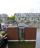 Floating house in Amsterdam Royalty Free Stock Photos