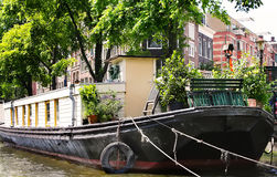 Floating house in Amsterdam Stock Photos