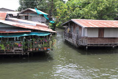 Floating house in Bangkok Royalty Free Stock Image