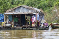 Floating House Cambodia Stock Photography