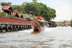 Floating house on Chaophraya, river, Bangkok. Thailand Royalty Free Stock Photography