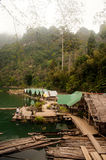 Floating house in Cheow Larn Lake (Ratchaprapa Dam). Stock Image