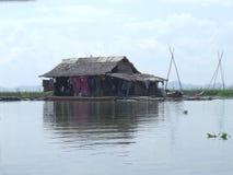 Floating house on Danau (lake) Tempe in Sulawesi Royalty Free Stock Photo