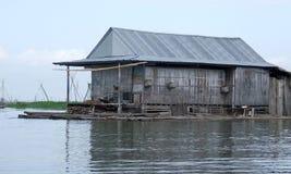 Floating house on Danau (lake) Tempe in Sulawesi Royalty Free Stock Image