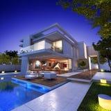 Floating house Stock Image