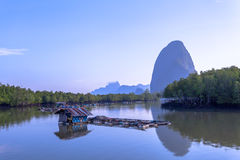 Floating house in fishing village Stock Photography