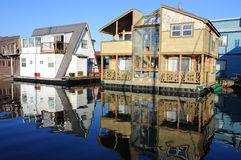 Floating house in fishman's wharf stock photography