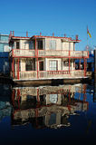 Floating house in fishman's wharf royalty free stock photography