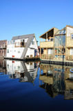 Floating house in fishman's wharf Stock Photo